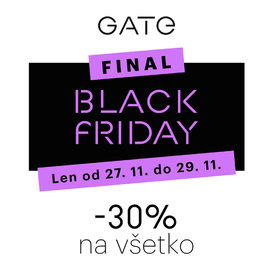 Black Friday v predajni GATE